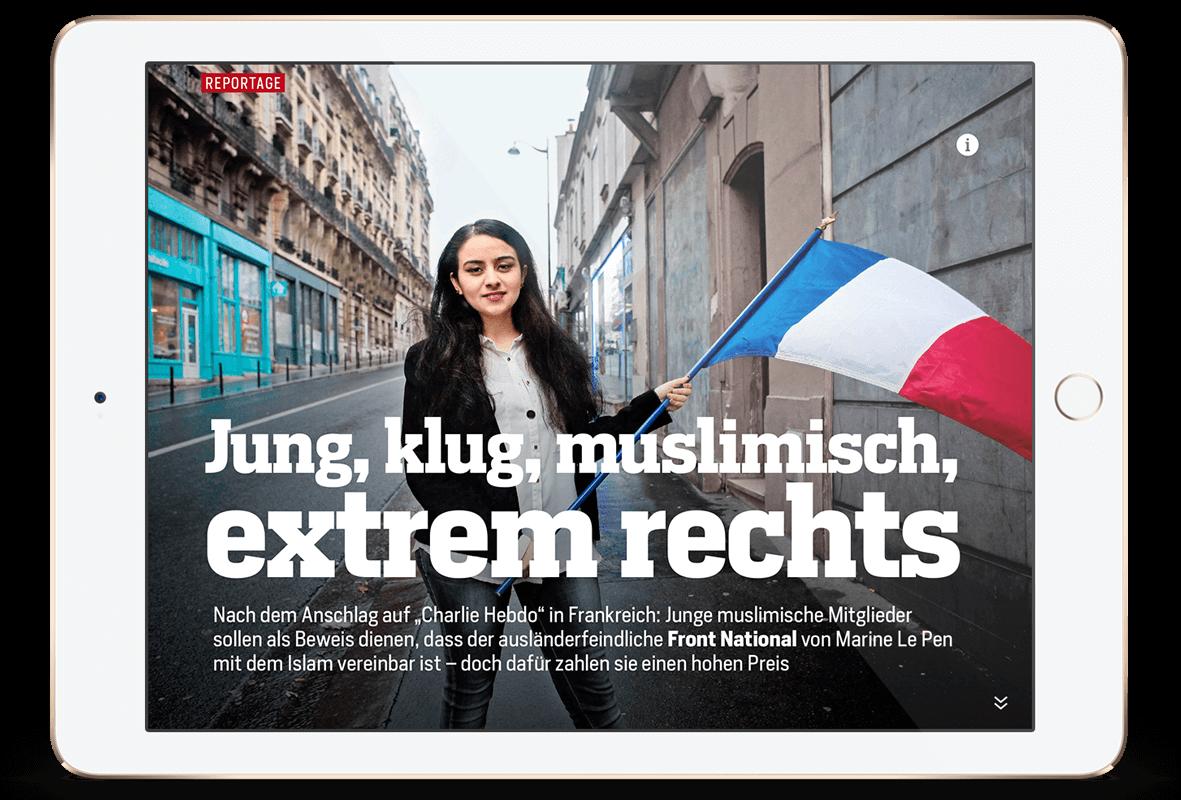 Focus Magazin App zum Thema muslime in der Front national