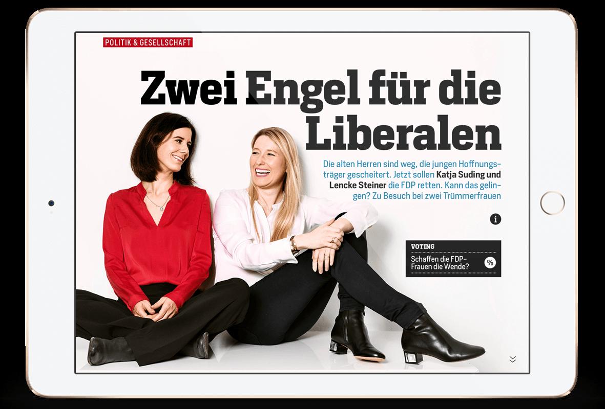 Focus Magazin App mit Frauen von der fdp