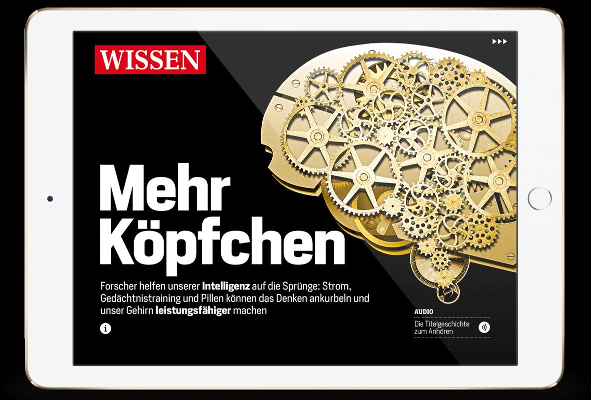 Focus Magazin App zum Thema mehr Köpfchen.
