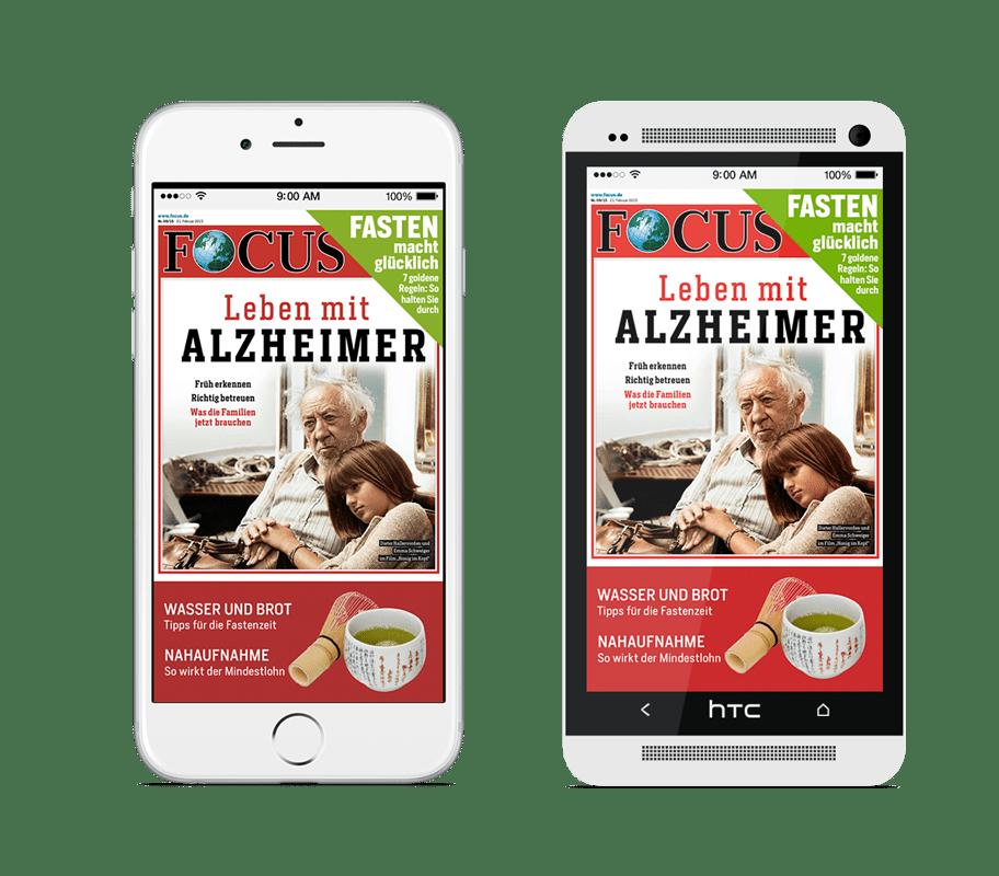 Focus Magazin App auf iPhone und Androide handy