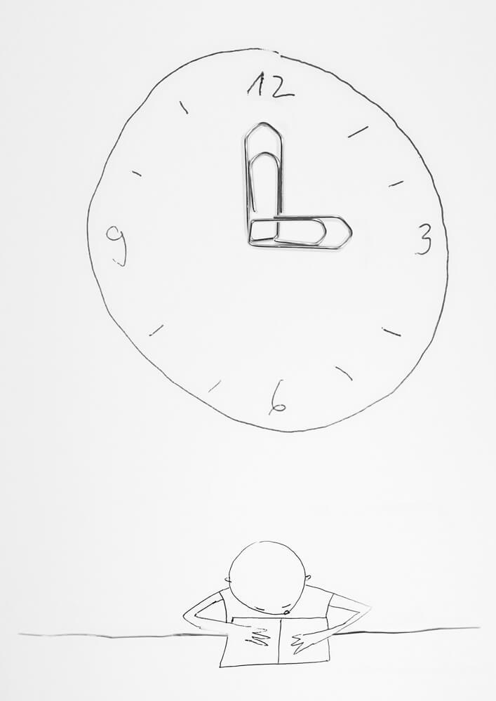 Apropos whitepaper Ausgabe 2 illustration Uhr und lernen als sinnbild für effektives Arbeiten